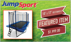 Featured Trampoline - 10' x 17' Rectangle JumpSport Trampoline