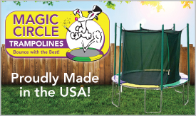 Magic Circle Trampolines With Enclosure