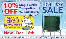 10% Off Magic Circle Trampolines With Enclosure